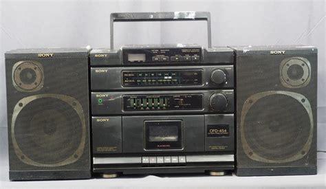 cassette player boombox sony cfd 454 am fm cassette cd player detachable speaker