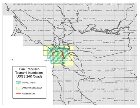san francisco inundation map san francisco san francisco county tsunami inundation maps