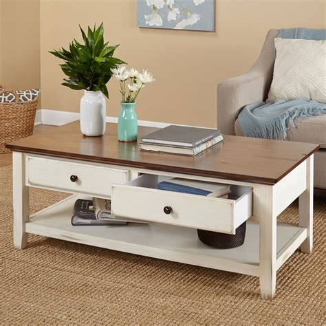 Storage Table For Living Room - modern coffee table contemporary storage drawers accent