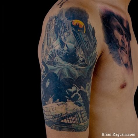 batman tattoo sleeve batman quarter sleeve by brian ragusin batman