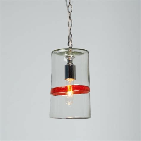 Color Band Glass Cylinder Pendant Light Pendant Lighting Glass Cylinder Pendant Light