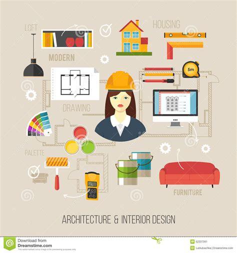 concept design vs illustration architecture and interior design concept business women