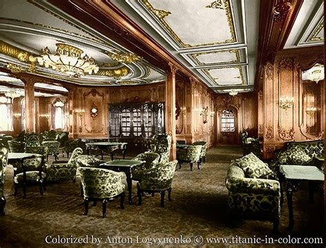the color lounge aboard the titanic