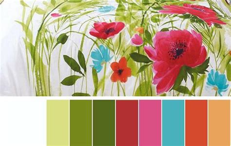 red green color combination selecting summer decorating color schemes for your rooms