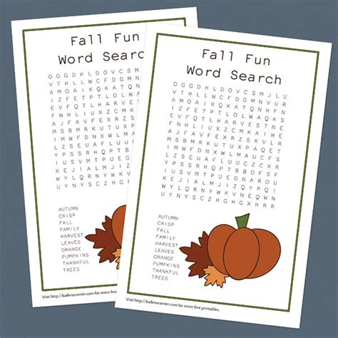 printable word search autumn 7 best images of printable autumn word games easy fall