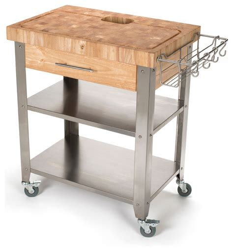 contemporary kitchen carts and islands stadium series kitchen work station end grain top