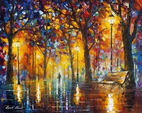 new painting free bench of patience palette knife painting on canvas
