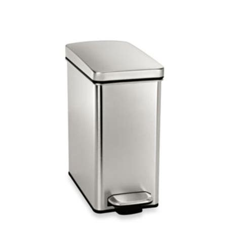 simplehuman bathroom trash can buy bathroom trash cans from bed bath beyond