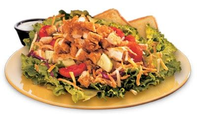 zaxby s carbohydrates house zalad with grilled chicken from zaxby s nurtrition