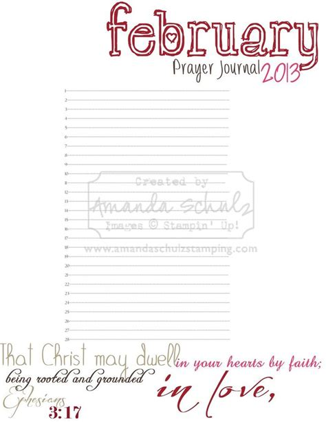 catholic prayer journal template february prayer journal page free printable prayer
