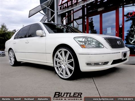 lexus ls430 rims lexus ls430 with 22in vossen cv4 wheels exclusively from