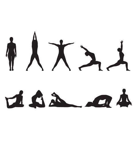 imagenes yoga vector vector de siluetas de yoga im 225 genes predise 241 adas clip