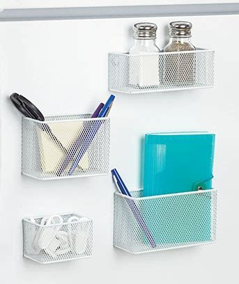 Kitchen Refrigerator Organizer Set Of 4 White Magnetic Kitchen Fridge Organizer Container
