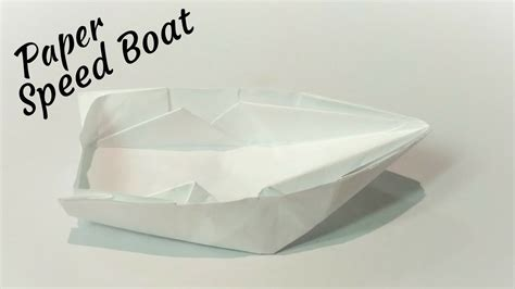 how to make a paper cool boat origami speedboat make a cool paper boat how to make a