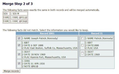 Family Search How To Merge Two Administration Pages Webtrees