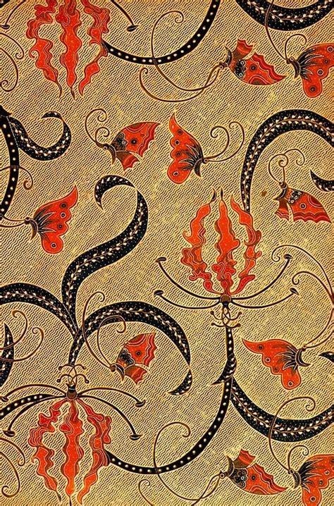 pattern batik kalimantan hand drawn batik on cotton kembang sungsang jakarta
