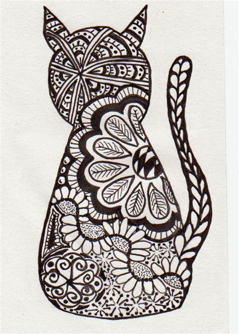 cat painting ideas for adults zentangle buscar con pinteres