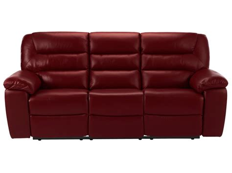electric sofa recliners leather devon large electric sofa with 2 recliners burgundy