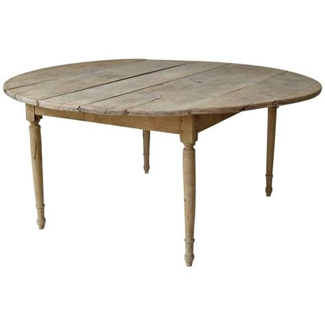 Oak Drop Leaf Dining Table Large 19th Century Drop Leaf Oak Dining Table From For Sale At 1stdibs