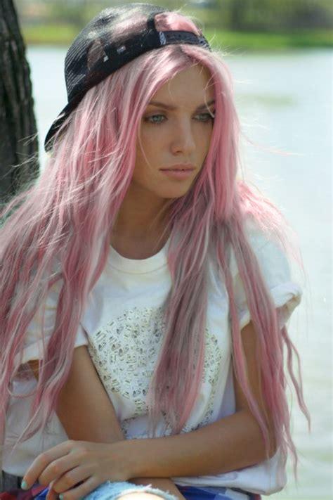 girly pink  purple hair dye pink hair pastel