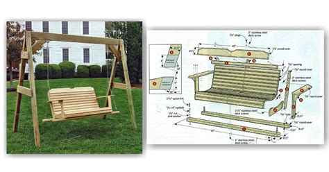 outdoor swing plans porch swing plans woodarchivist