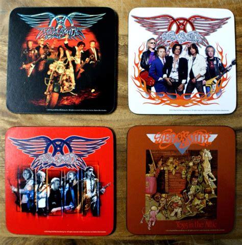 Aerosmith 4 pc Wood Coaster Set Album Cover Art Classic Rock Music Coffee Table   The Wild Robot