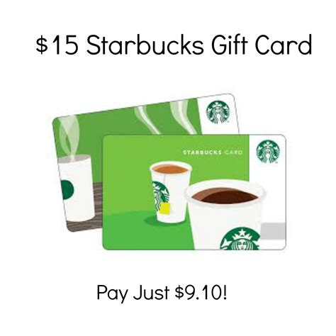 Can You Exchange Starbucks Gift Cards For Cash - hot 15 starbucks gift card just 9 10