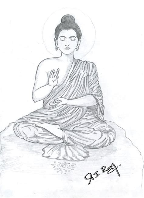 pencil sketch of mahatma buddha desipainters com