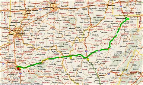 kentucky border map day 38 map morgantown wv to ky