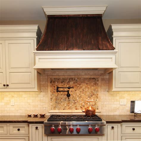 kitchen cabinet hoods copper range hood traditional kitchen chicago by