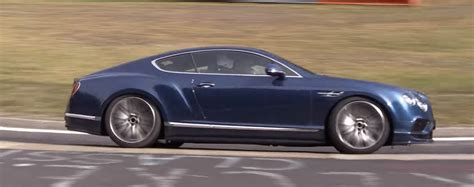 2018 bentley continental gt spied lapping nurburgring