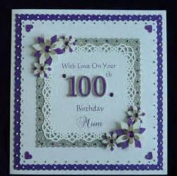 100th birthday card nan grandad etc all colours
