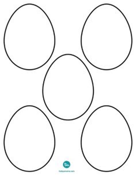 small easter egg template printable on 270 pins