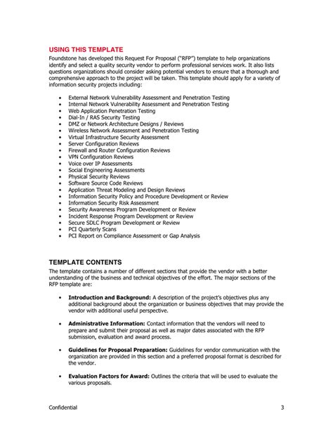 social media rfp template rfp template in word and pdf formats page 3 of 12