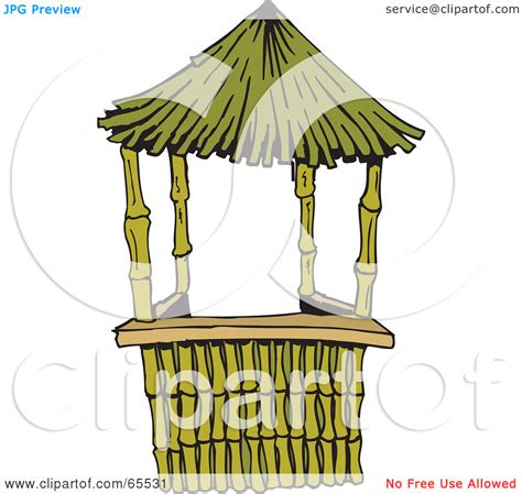 tiki hut roof clip bamboo hut clipart clipground