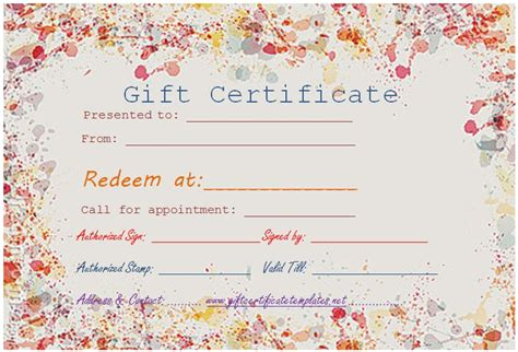 beautiful templates for certificates colorful border gift certificate template beautiful