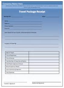 Travel Receipt Template Travel Package Receipt Template Free Layout Amp Format