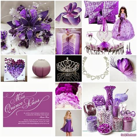 Quinceanera Themes Purple | ombre purple sweet fifteen theme quince candles