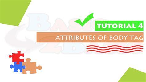 html tutorial youtube in hindi html tutorial 04 attributes of body tag in hindi youtube