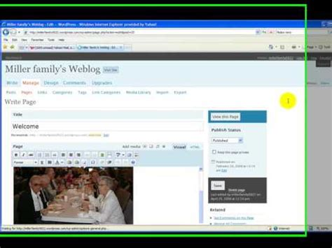 wordpress tutorial series wordpress static page tutorial 10 in the series youtube