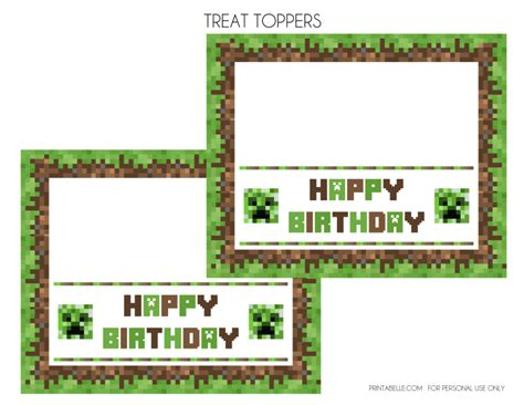 minecraft birthday card template printable minecraft invitation templates