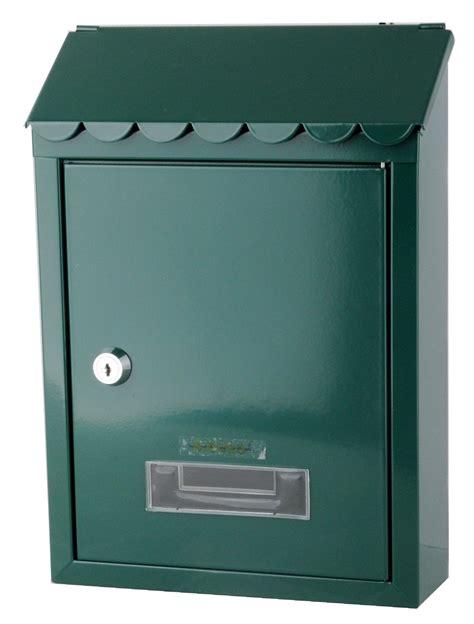 cassette della posta per esterni cassetta postale per esterno acciaio verde 21x30x7 cm