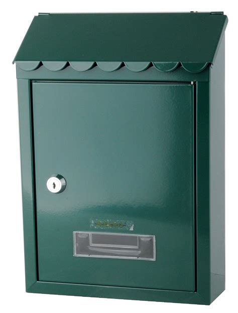 cassetta postale cassetta postale per esterno acciaio verde 21x30x7 cm
