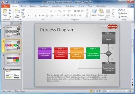 How To Make A Flowchart In Powerpoint Process Flow Diagram Ppt