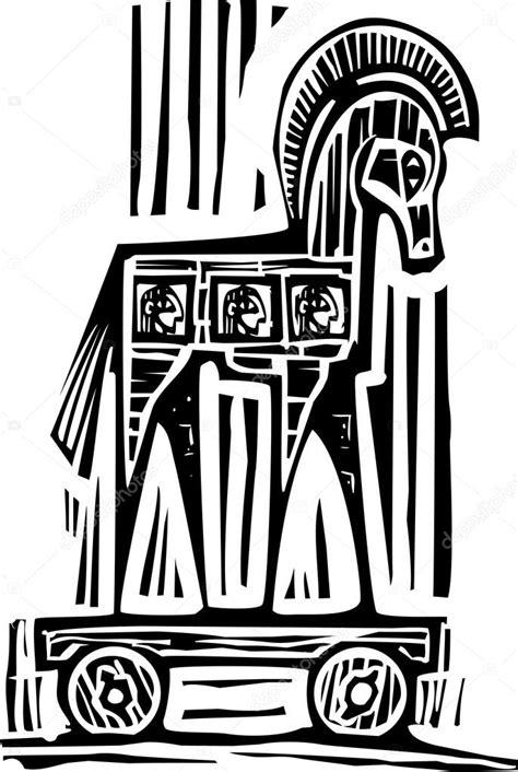 Cavalo de Tróia — Vetores de Stock © xochicalco #81403990