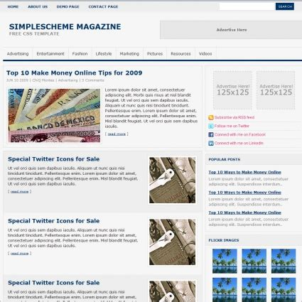 simple scheme magazine template free website templates in