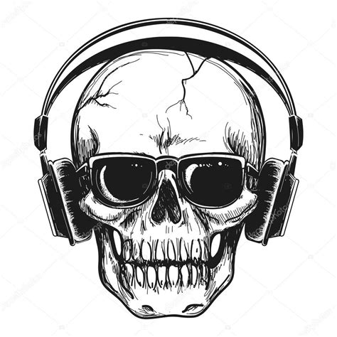Skull Headphones human skull with headphones stock vector 169 vectortatu