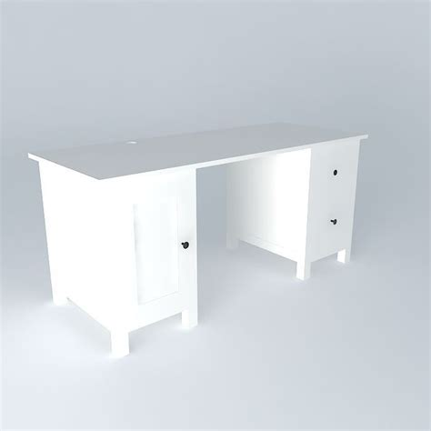 Hemnes Desk White Free 3d Model Max Obj 3ds Fbx Stl Hemnes White Desk