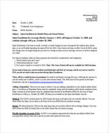 open enrollment email template sle announcement letter template 9 free documents