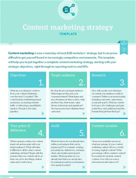 Content Marketing Strategy Template template content marketing strategy b2b marketing